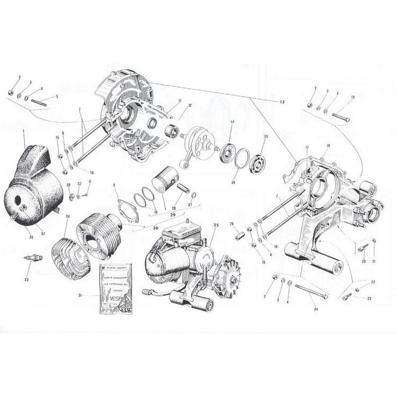 Kit restauro motore Vespa...