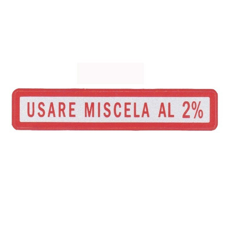 Targhette piccole miscela 2%