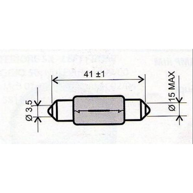 Lampadina 6v-15 watt siluro...