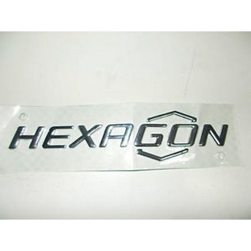 """Targhetta """"Hexagon"""" laterale"""