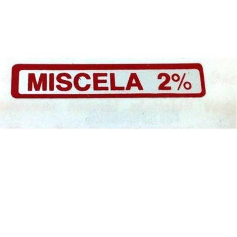 "Etichetta ""Miscela 2%"""