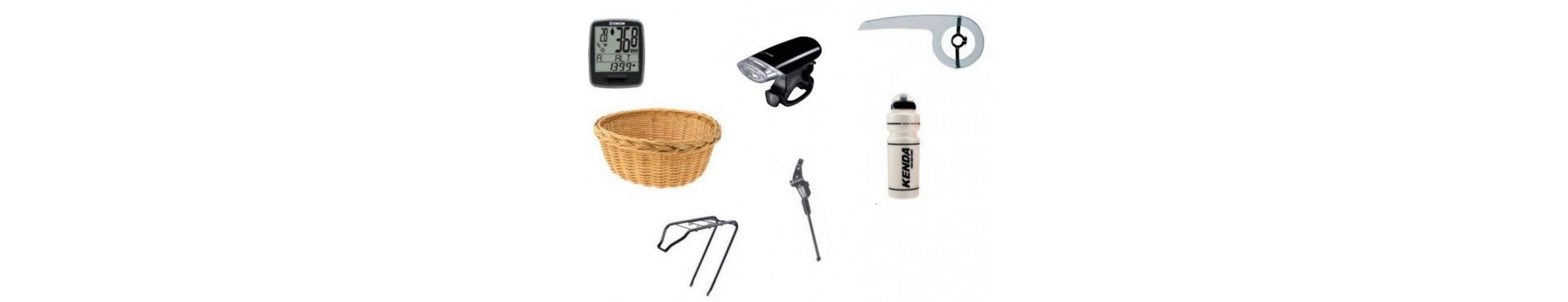 Accessori, fanali, ciclocomputer, borse, cestini, borracce e altro